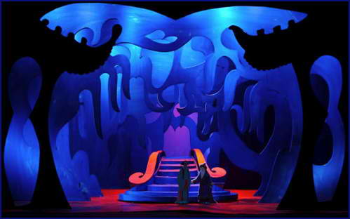 David Hockney's set design for Puccini's opera, Turandot.